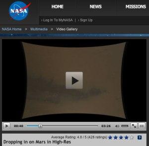 NASA-Video Mars-Landung