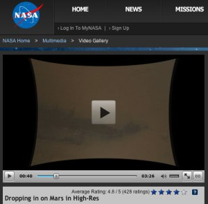 NASA-Video Mars-Landung