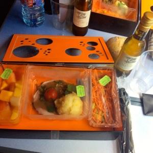 Mahlzeit im TGV nach Paris