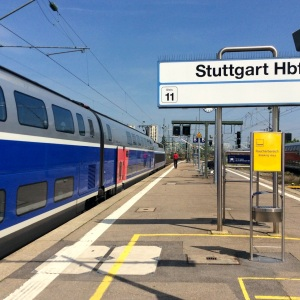 TGV Duplex nach Paris in Stuttgart